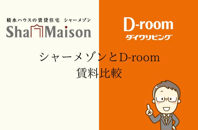 シャーメゾンとD-room 賃料比較