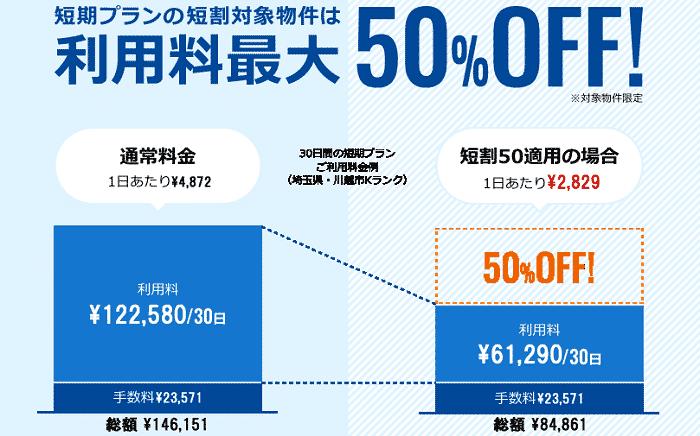 利用料最大50%OFF