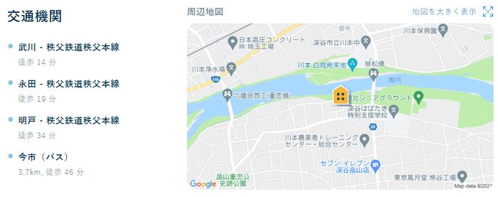 ビレッジハウスかわもと地図写真