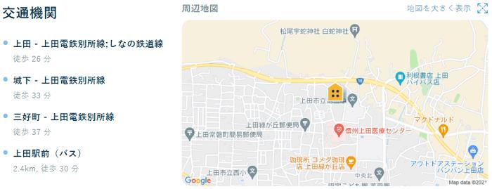 ビレッジハウス上田交通機関