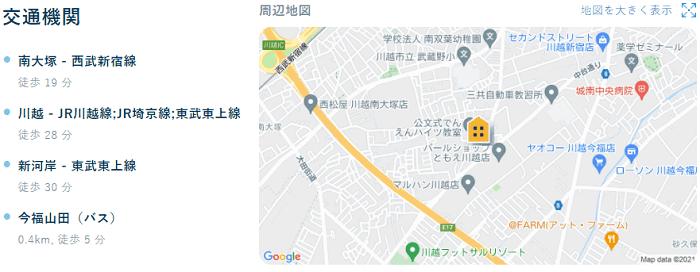 ビレッジハウス今福地図写真