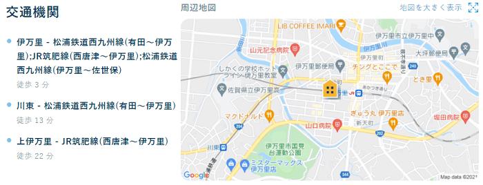 ビレッジハウス伊万里交通機関