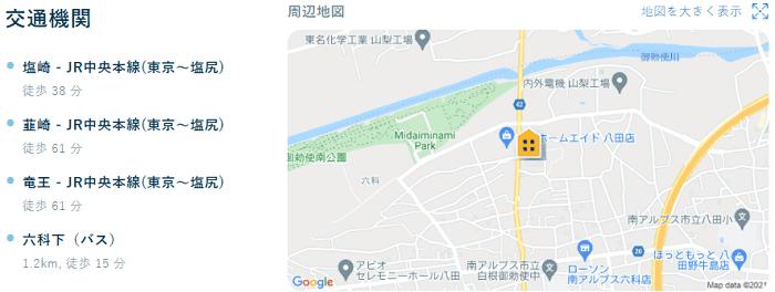ビレッジハウス八田交通機関