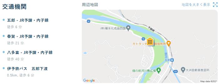 ビレッジハウス多田交通機関