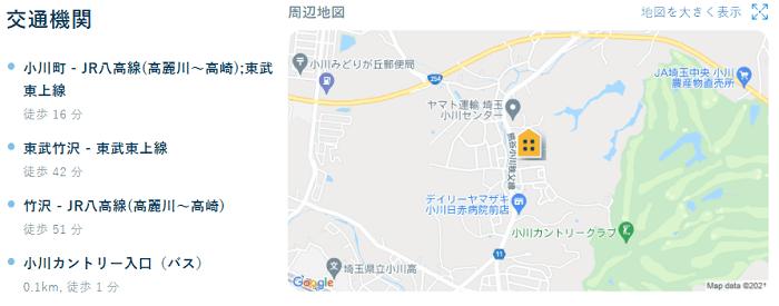 ビレッジハウス小川地図写真
