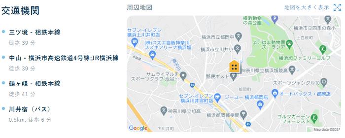 ビレッジハウス川井宿地図写真