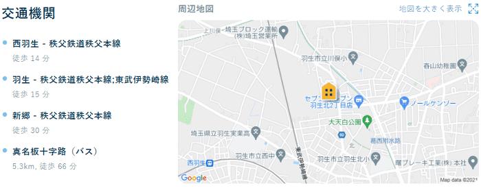 ビレッジハウス本川俣地図写真