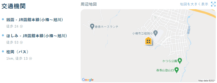 ビレッジハウス桂岡交通機関