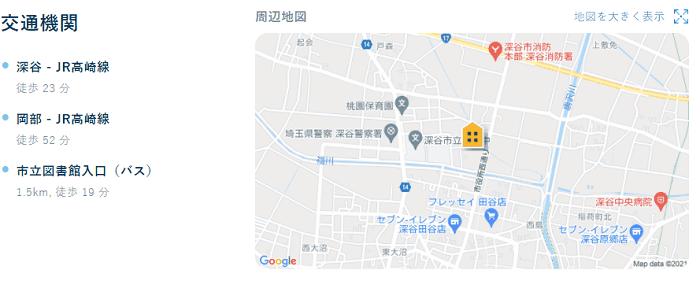 ビレッジハウス田谷地図写真