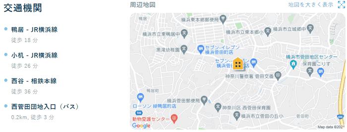 ビレッジハウス菅田地図写真
