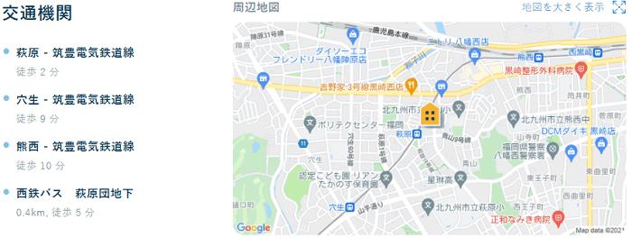 ビレッジハウス萩原交通機関