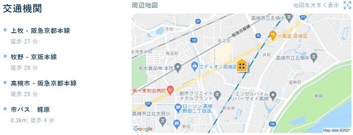 ビレッジハウス萩庄交通機関