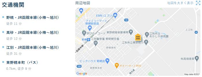ビレッジハウス野幌交通機関