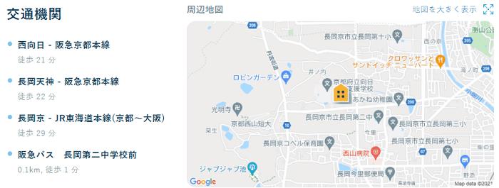 ビレッジハウス長岡交通機関