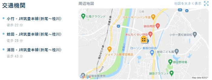 ビレッジハウス頴田交通機関