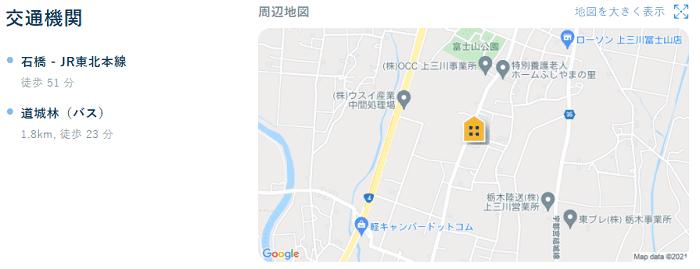ビレッジハウス上三川南地図写真
