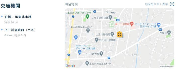 ビレッジハウス上三川地図写真