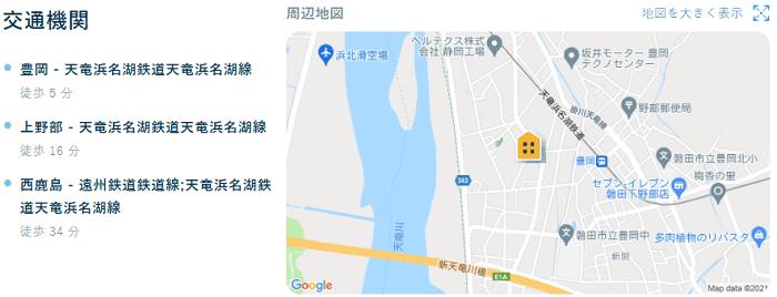 ビレッジハウス上野部交通機関