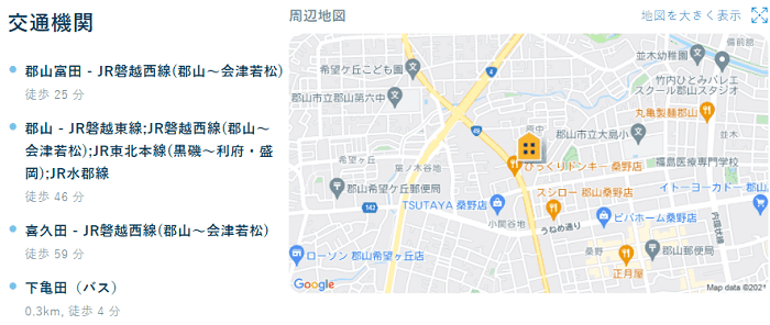 ビレッジハウス亀田交通機関