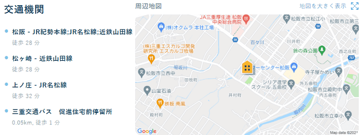 ビレッジハウス井村交通機関