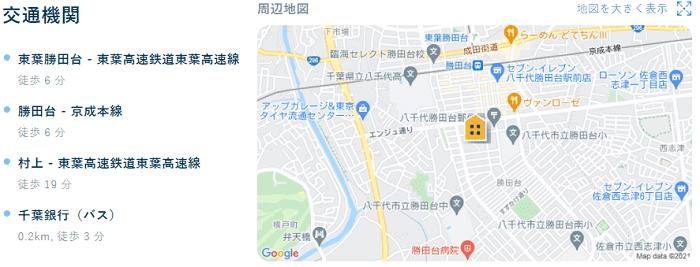 ビレッジハウス勝田地図写真