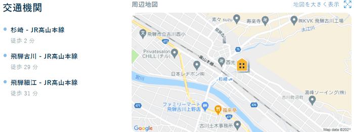 ビレッジハウス古川交通機関