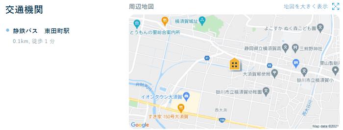 ビレッジハウス大須賀第二交通機関
