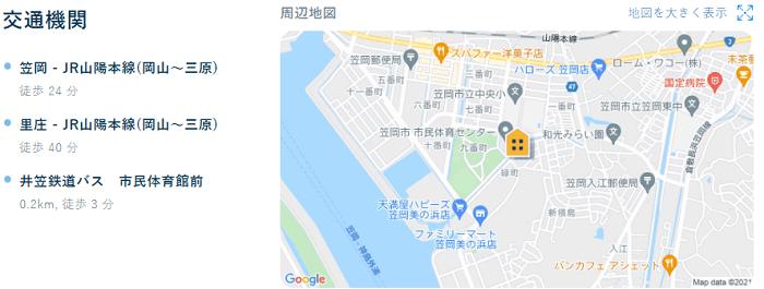 ビレッジハウス富岡第二交通機関