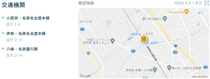 ビレッジハウス小田渕交通機関