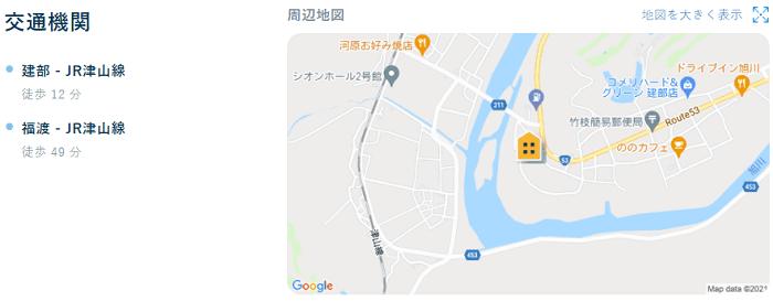 ビレッジハウス建部吉田交通機関