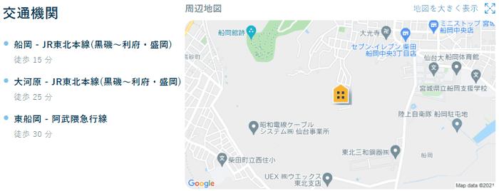 ビレッジハウス柴田交通機関