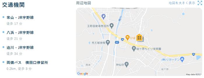 ビレッジハウス槌ヶ原交通機関