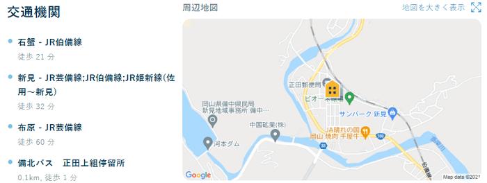 ビレッジハウス正田交通機関