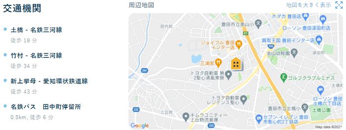 ビレッジハウス田中第二交通機関