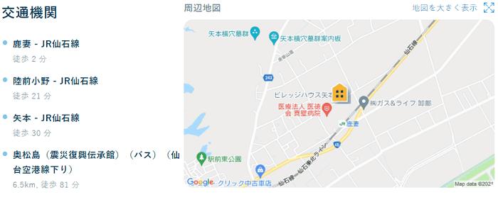 ビレッジハウス矢本交通機関