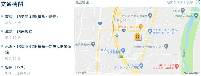 ビレッジハウス窪田交通機関