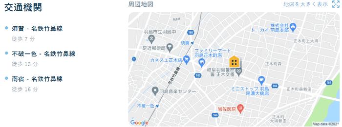 ビレッジハウス羽島交通機関