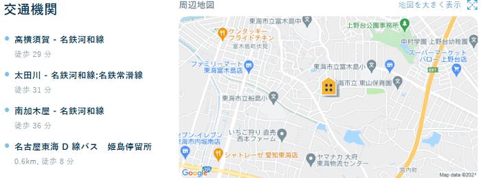 ビレッジハウス藤島交通機関
