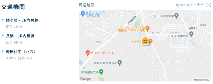 ビレッジハウス迎田地図写真