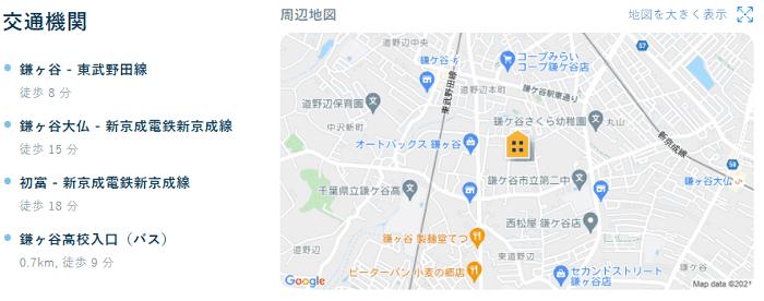 ビレッジハウス鎌ヶ谷地図写真